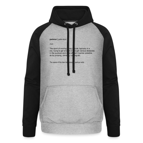 parkour dictionay - Unisex baseball hoodie