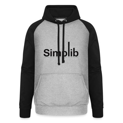 Logo-Simplib-ok - Bluza bejsbolowa typu unisex