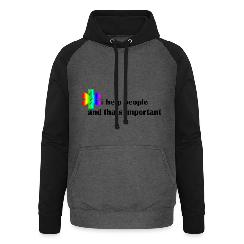 i help people - Unisex baseball hoodie