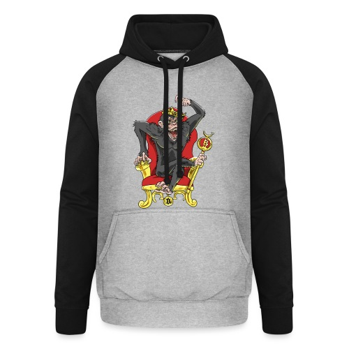 Bitcoin Monkey King - Beta Edition - Unisex Baseball Hoodie