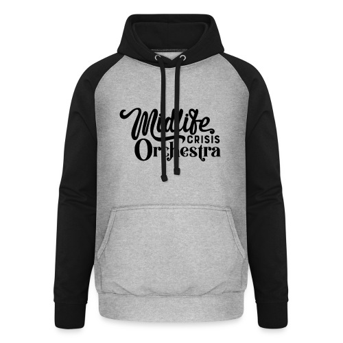 Midlife Crisis Orchestra svart logo - Basebolluvtröja unisex