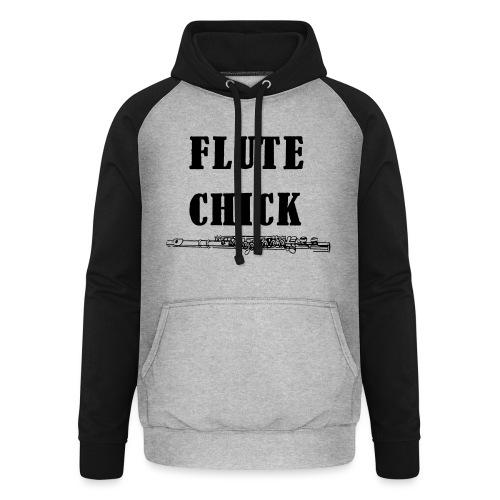 Flute Chick - Unisex baseball-hettegenser