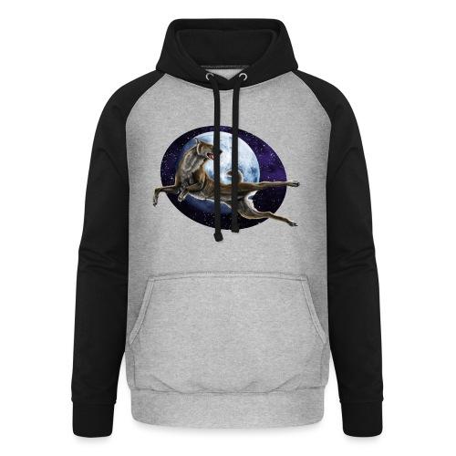 Galaxy Wolf - Unisex Baseball Hoodie