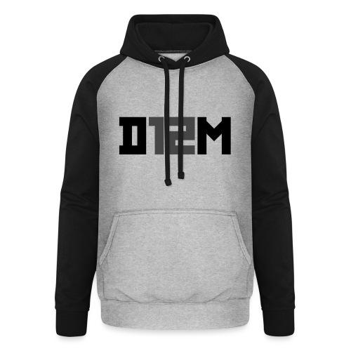 D12M: SHORT BLACK - Unisex baseball hoodie