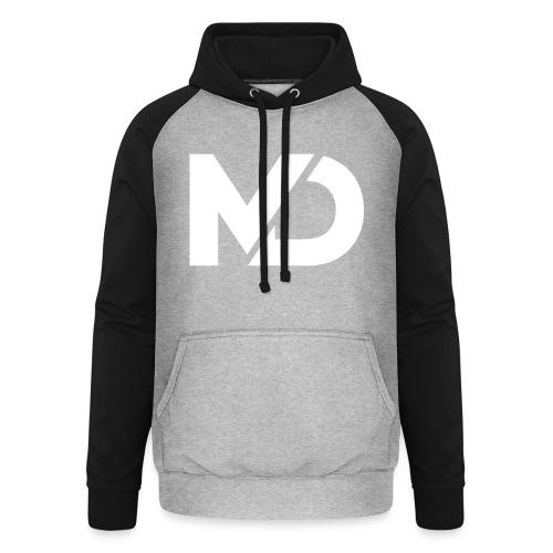 logo_wit - Unisex baseball hoodie