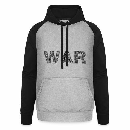 Napis stylizowany War and Peace - Bluza bejsbolowa typu unisex