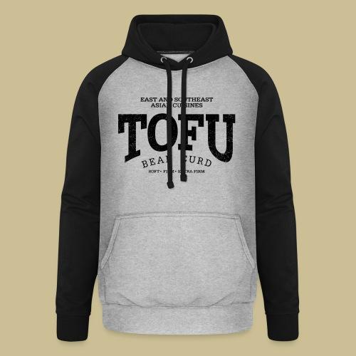 Tofu (black oldstyle) - Unisex Baseball Hoodie