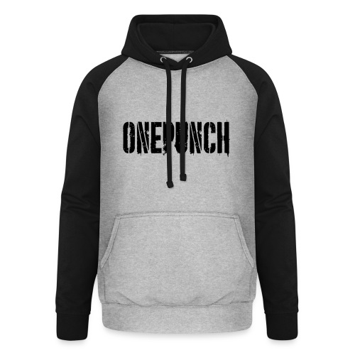 Boxing Boxing Martial Arts mma tshirt one punch - Unisex Baseball Hoodie