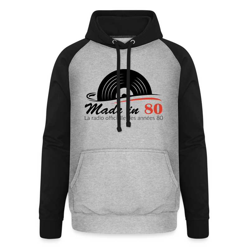 Made in 80 - Sweat-shirt baseball unisexe