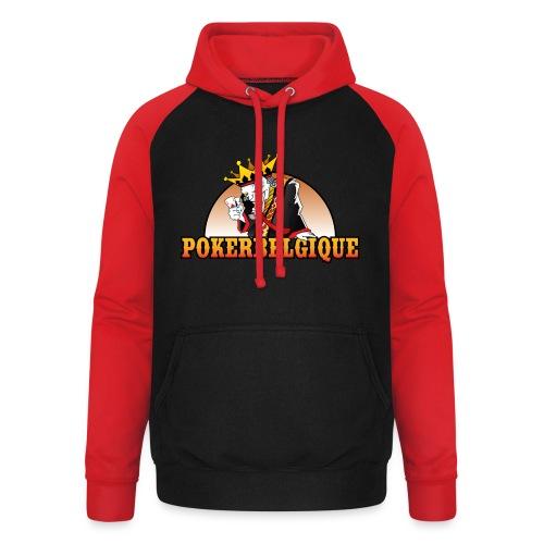 Logo Poker Belgique - Sweat-shirt baseball unisexe