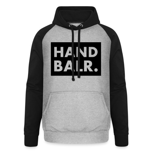 Handbalr Wit - Unisex baseball hoodie