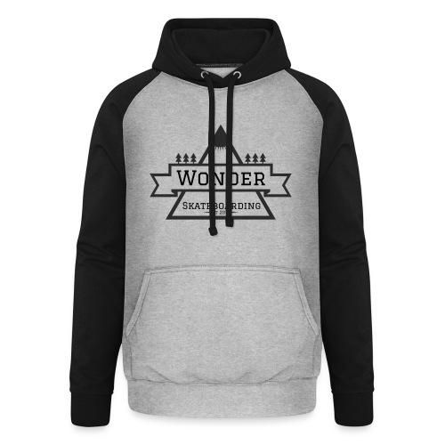 Wonder T-shirt: mountain logo - Unisex baseball hoodie