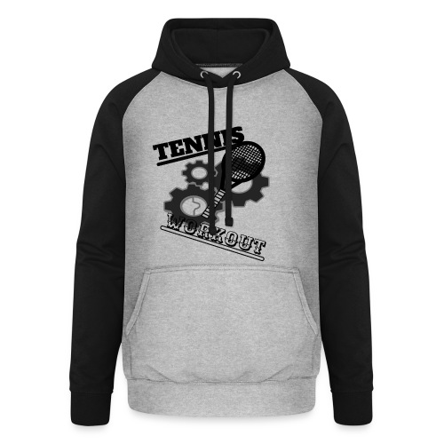 TENNIS WORKOUT - Unisex Baseball Hoodie