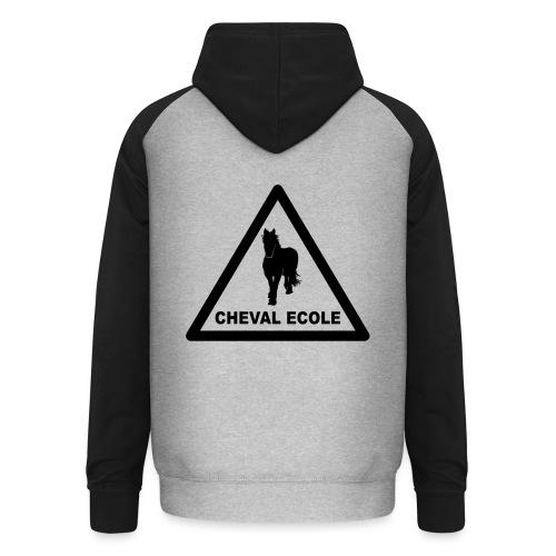 chevalecoletshirt - Sweat-shirt baseball unisexe