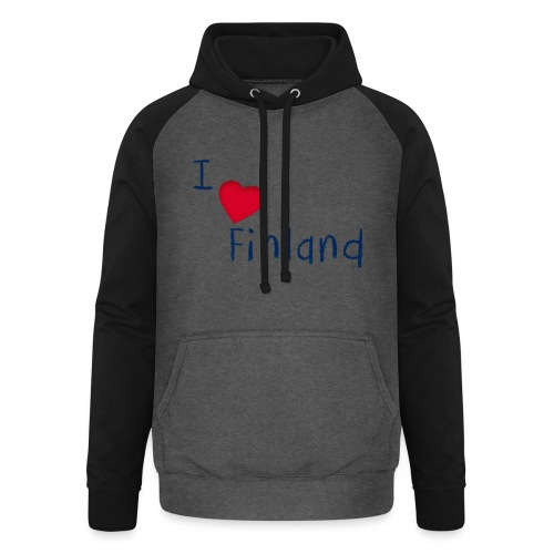 I Love Finland - Unisex baseball-huppari