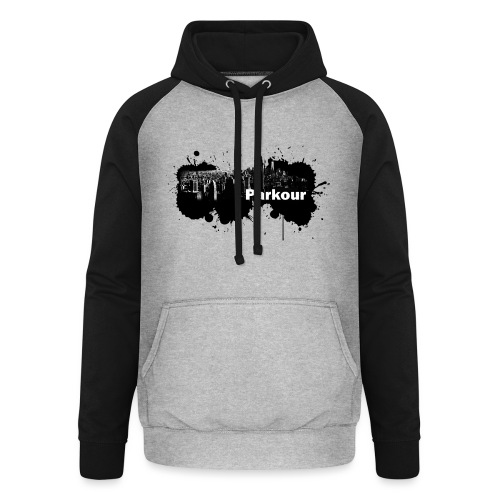 Parkour Splash New York - Unisex baseball hoodie