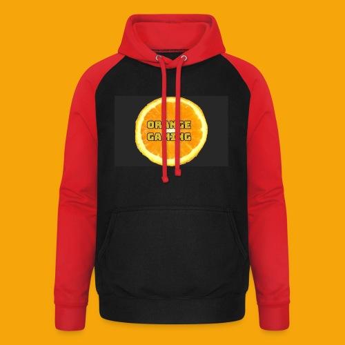 Orange_Logo_Black - Unisex Baseball Hoodie
