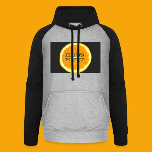 Orange_Logo_Black - Unisex Baseball Hoodie