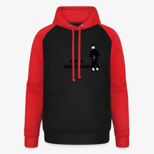 Pissing Man against anti-semitism - Unisex Baseball Hoodie