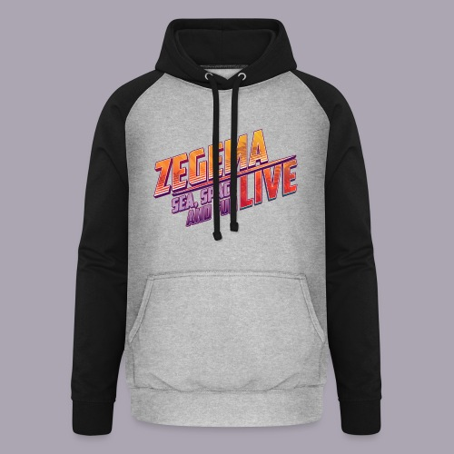 Slogan Zegema Live - Sweat-shirt baseball unisexe