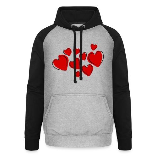 hearts herzen - Unisex Baseball Hoodie