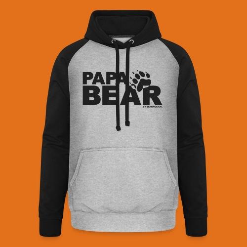 papa bear new - Unisex Baseball Hoodie