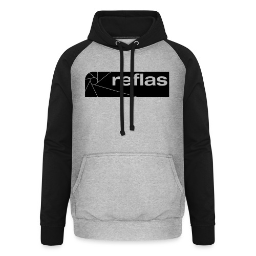 Reflas Clothing Black/Gray - Felpa da baseball con cappuccio unisex