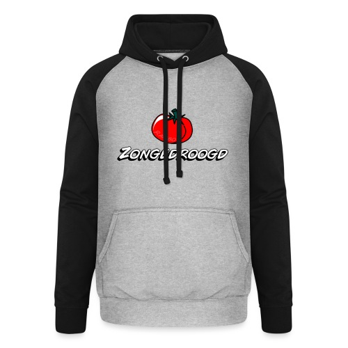 ZONGEDROOGD - Unisex baseball hoodie