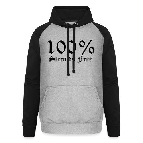 100% bez sterydów - Bluza bejsbolowa typu unisex