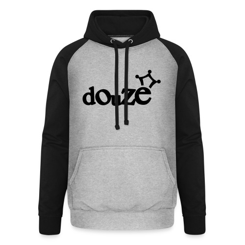 logo_douze - Sweat-shirt baseball unisexe