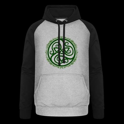 Green Celtic Triknot - Unisex Baseball Hoodie