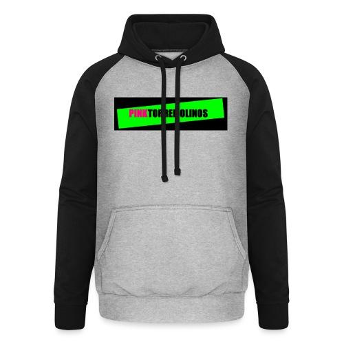 pinklogo - Unisex baseball hoodie