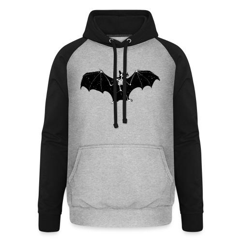 Bat skeleton #1 - Unisex Baseball Hoodie