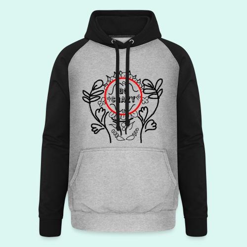 Go Crazy Flower - Unisex baseball hoodie