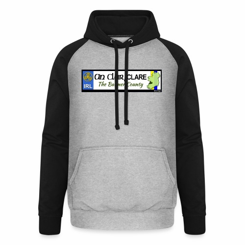 CO. CLARE, IRELAND: licence plate tag style decal - Unisex Baseball Hoodie