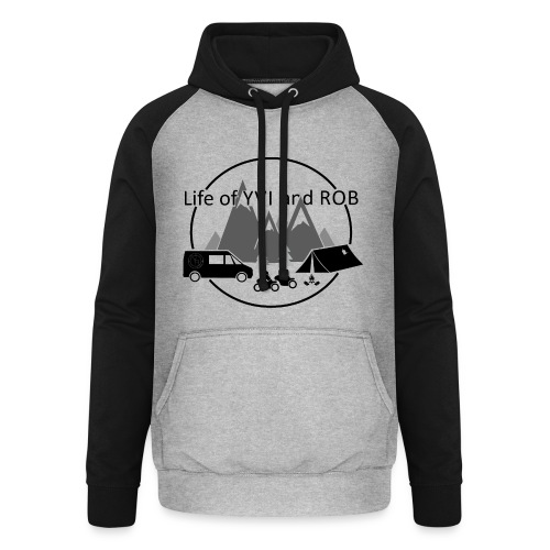 Life of YVI and ROB Logo - Unisex Baseball Hoodie