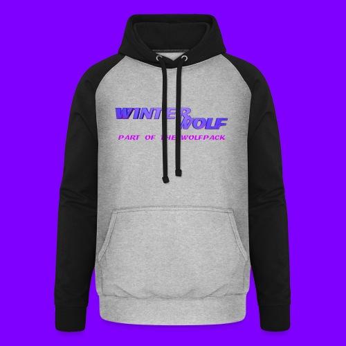 WINTERWOLF LOGO Part of The Wolfpack T-shirt - Unisex baseball hoodie