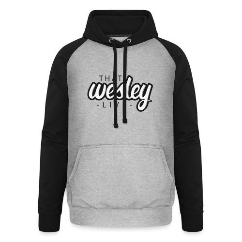 ThatWesleyLOGO 3 4 png - Unisex baseball hoodie