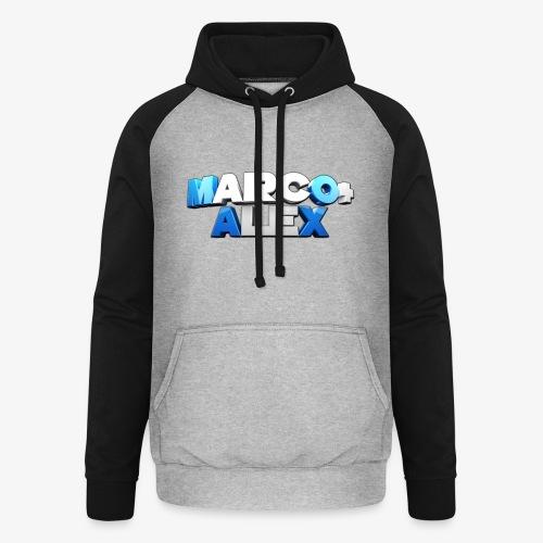 Logo Marco+Alex - Felpa da baseball con cappuccio unisex