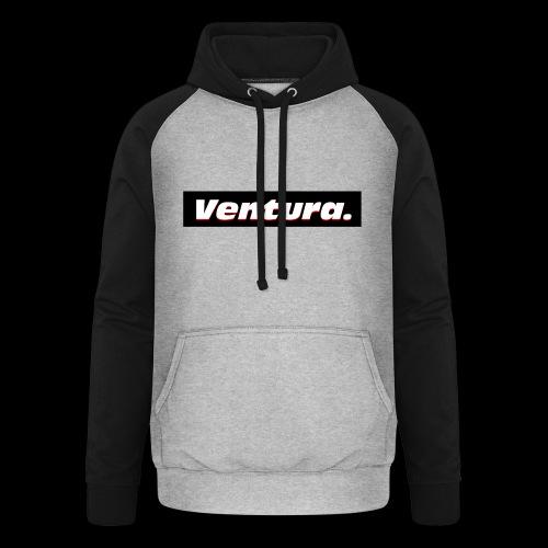 Ventura Black Logo - Unisex baseball hoodie
