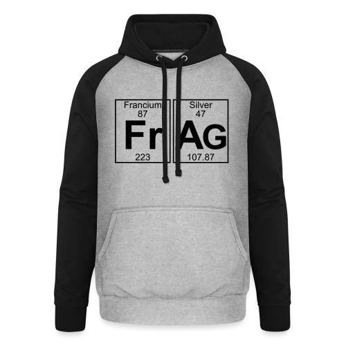 Fr-Ag (frag) - Full - Unisex Baseball Hoodie