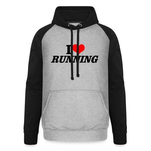 I love running - Unisex Baseball Hoodie