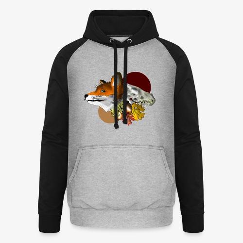 Autumn Foxey - Felpa da baseball con cappuccio unisex