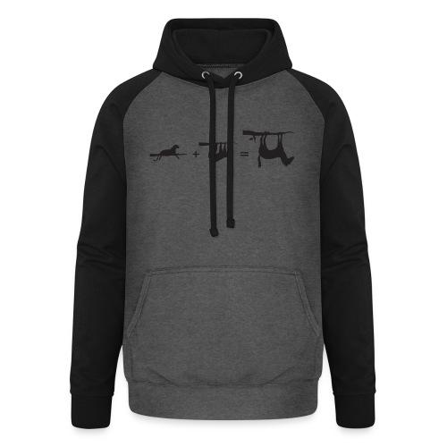 Lui paard Formule Luipaar - Unisex baseball hoodie