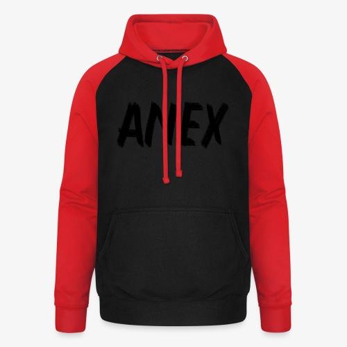 V-neck T-Shirt Anex black logo - Unisex Baseball Hoodie