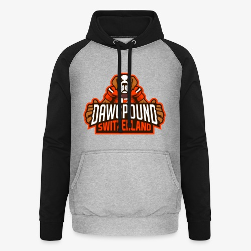 Dawgpound Switzerland Header - Unisex Baseball Hoodie