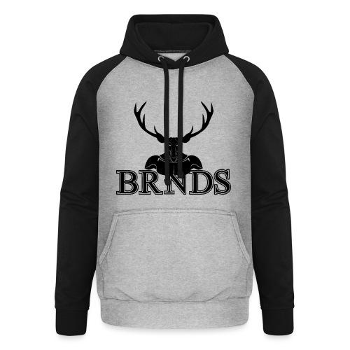 BRNDS - Felpa da baseball con cappuccio unisex
