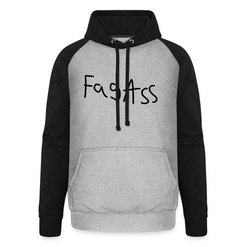 Fag Ass Logo #1 - Unisex baseball hoodie