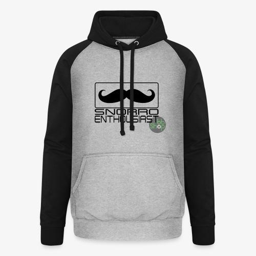 Snorro enthusiastic (black) - Unisex Baseball Hoodie