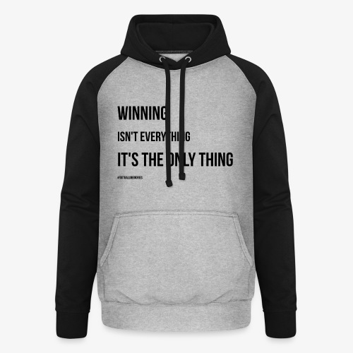Football Victory Quotation - Unisex Baseball Hoodie